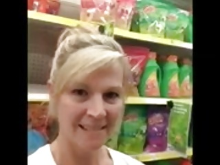 wife at supermarket