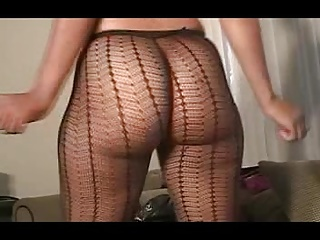 Dominican Ass Jiggles In Fishnet Pantyhose