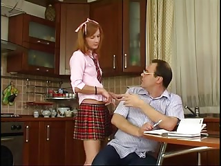 School,Daddy,Hardcore,Mature,Old and young,Petite,Redhead,Small Tits,Teen,Cumshot