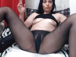 Pantyhose,Russian,Smoking,Masturbation,Panties,Orgasm
