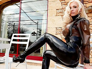 Latex,High Heels,Big Boobs,Blonde,Lingerie,MILF,Outdoor