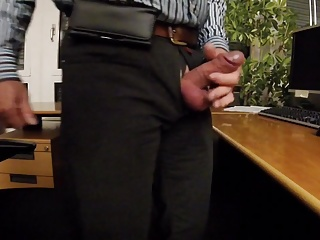 Office,Public Nudity,Big Cock,Flashing,Masturbation