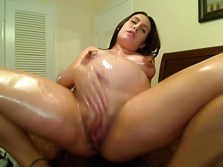 Pregnant,Oiled