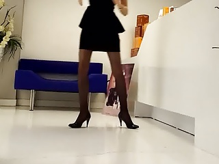 Pantyhose,Office,Hidden Cams,Panties,Upskirt,Voyeur,High Heels