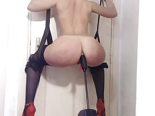 Machine,High Heels,Blonde,Hardcore,Anal