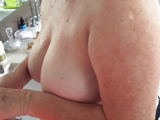 Big Boobs,Mature,Shower,Wife
