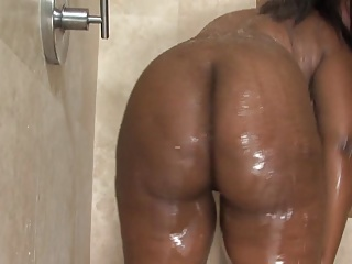 Shower,Big Ass,BBW,Black and Ebony,Hardcore