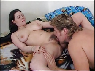 Pale Brunette With Hairy Pussy + Perfect Tits