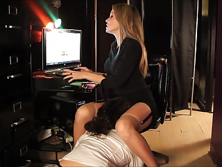 Mistress with the office nerd