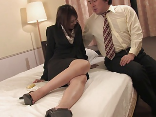 Threesome,Asian,Blowjob,Brunette,Creampie,Facial,Hairy,Secretary