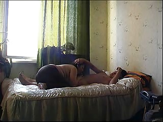Amateur Russian Mother and Guy