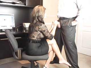 Office,Brunette,MILF,Masturbation,Big Boobs,Blowjob
