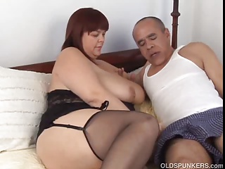 Old and young,Housewife,Mature,Stockings,Wife,Beautiful,BBW,Big Boobs,Chubby