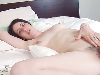 Brunette,Hairy,Masturbation,Big Boobs