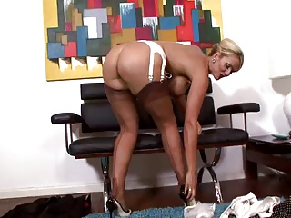 Vintage,British,Stockings,Blonde,Flashing,MILF,Masturbation