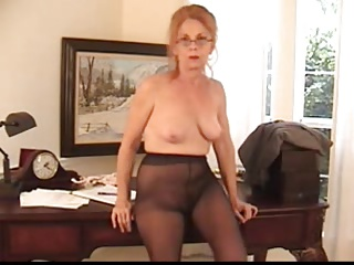 Secretary,Grannies,Hairy,Panties,Pantyhose,Stockings