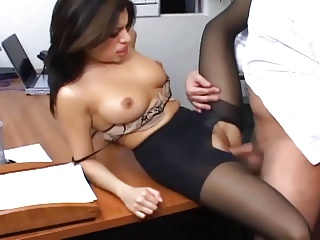 Lingerie,Office,Big Boobs,Secretary,Stockings