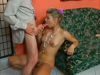 DIRTY OLD MAN SEDUCES A REALLY HOT BEAUTIFUL BLONDE...