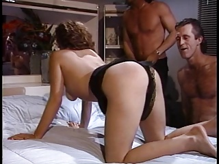 Blowjob,Brunette,Facial,Hardcore,MILF,Threesome,Wife