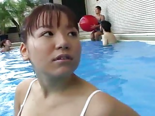 Asian,Pool,Teen,Orgasm,Masturbation