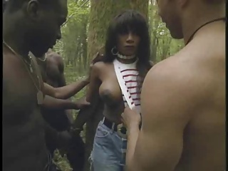 Black and Ebony,Gangbang,Outdoor,Double Penetration,Hardcore,Anal