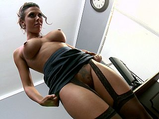 Femdom,Black and Ebony,Secretary,Office,Close-up,Stockings,Titfuck,Ass licking,Big Ass,Brunette,Lingerie,Pornstar