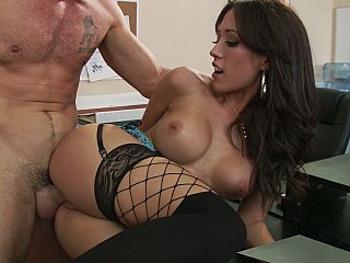 Brunette,Close-up,Hardcore,Office,Stockings