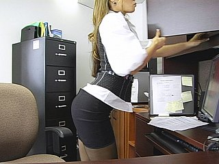 Office,Extreme,Stockings,Close-up,Bathroom