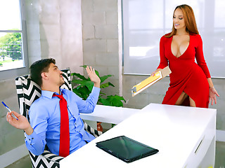 Office,Fake,Big Boobs,Amateur,Redhead