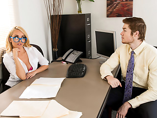Secretary,Mature,MILF,Office,Blonde,Glasses
