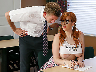Fake,Redhead,Glasses,Big Ass,Big Boobs