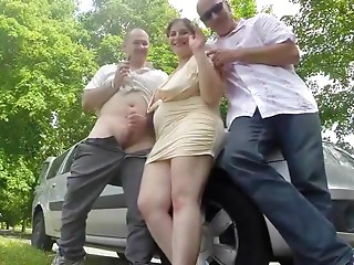 Outdoor,Wife,BBW,Chubby,Hardcore,Threesome