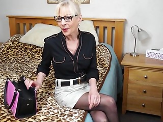 British,Glasses,Mature,Stockings,MILF,Solo