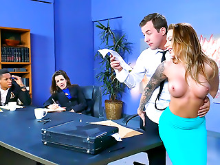 Office,Babe,Big Boobs,Pornstar,Tattoo