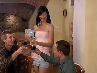 Drunk,Brunette,Mature,Wife,Cuckold