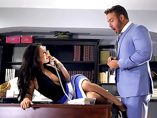 Office,Babe,Brunette,High Heels,Pornstar