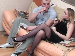 Pantyhose,Panties,High Heels,Blonde,Hardcore,Anal