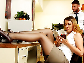 Office,Stockings,High Heels