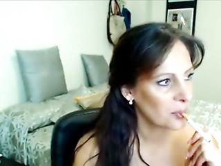 Smoking,Webcams,MILF,Brunette,Solo