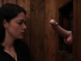Gloryhole,Brunette,Fetish