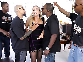 Gangbang,Interracial,Blonde,Hardcore