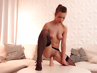 Sex Toys,Brunette,Stockings,Solo