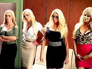 Group Sex,Office,Big Boobs,Blonde,Lesbian