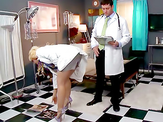 Doctor,Doggystyle,Big Boobs,Blonde,Blowjob,Hardcore