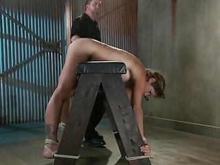 Girl is bound, dominated, cums hard and squirts