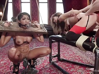 Threesome,Latex,BDSM,Sex Toys,Anal