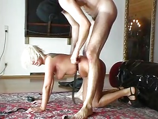 Blonde girl dominated