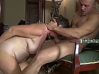 granny showers and catches stepson masturbating