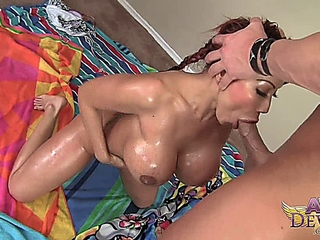 Oiled,Big Boobs,MILF,Anal