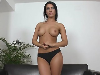 Casting,Petite,Big Boobs,Brunette,Reality,Solo